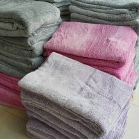 Chăn lông thỏ màu hồng CLT04
