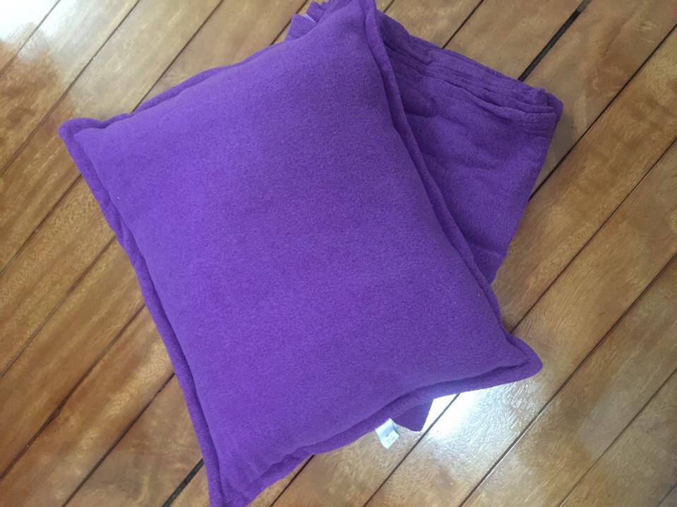 Bộ chăn gối màu tím hoa cà
