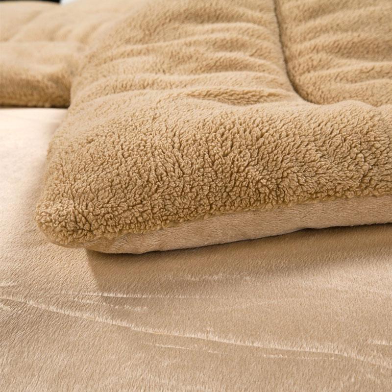 Chăn lông cừu Kyoryo màu be vàng cao cấp