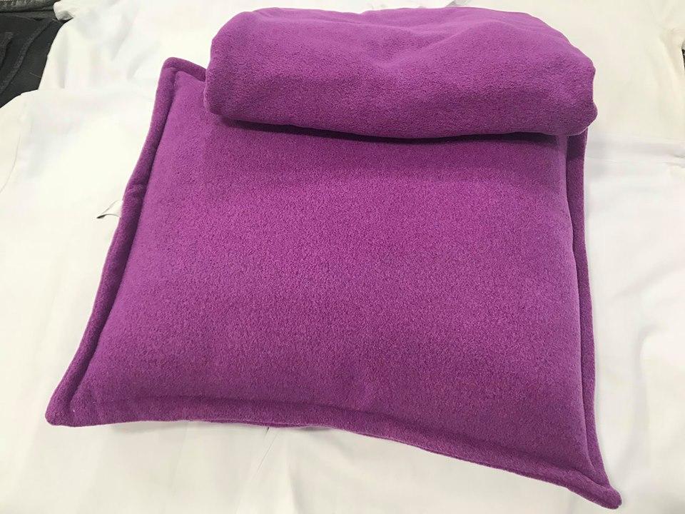 Bộ chăn gối màu tím huế nhạt