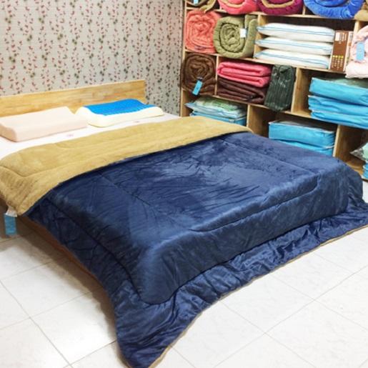 Chăn lông cừu Kyoryo màu xanh Navi 2mx2m3