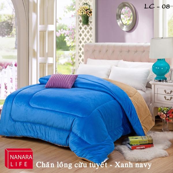 Chăn lông cừu tuyết NANARA màu xanh Navy