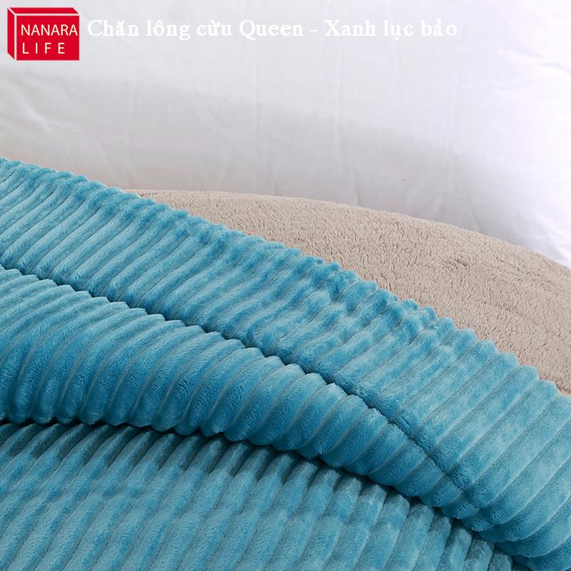 Chăn lông cừu NANARA Life màu xanh lục bảo