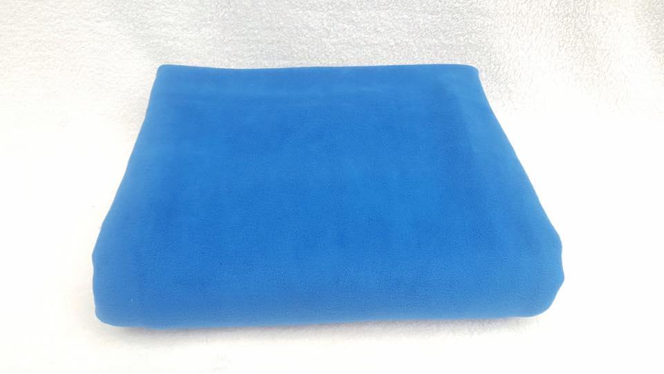 Chăn nỉ ép 2 mặt màu xanh dương + đen
