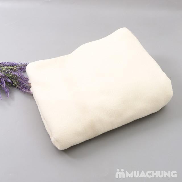 Chăn nỉ lông cừu màu trắng