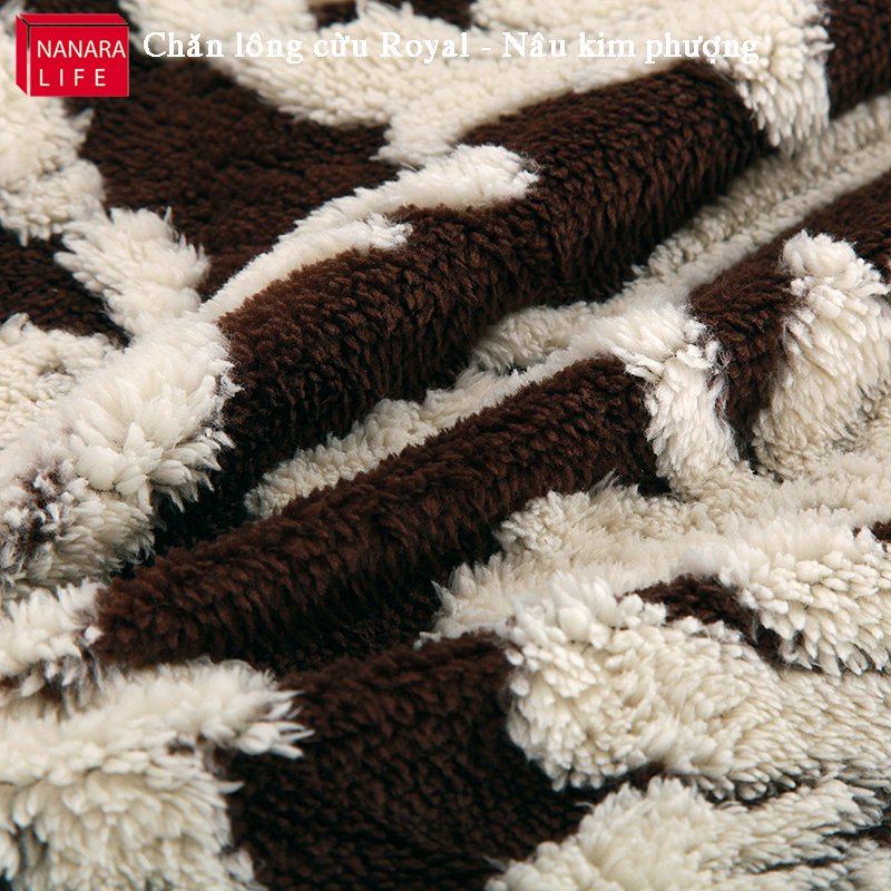 Chăn lông cừu - Nâu kim phượng đẹp đến từng minimet